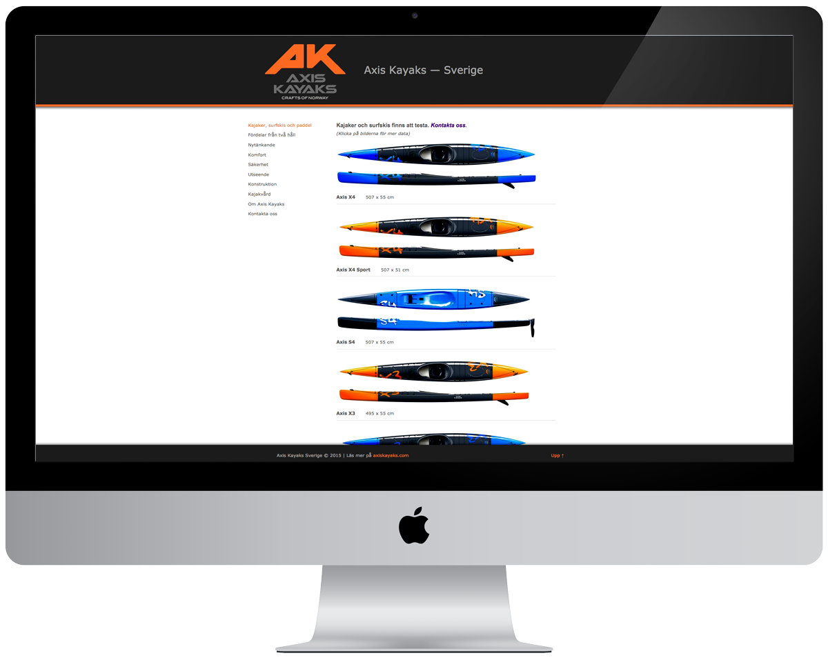 Axis Kayaks Svenska