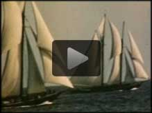 Bluenose vs. Gertrude L. Thebaud, International Fishermen's Trophy, 1938, final race