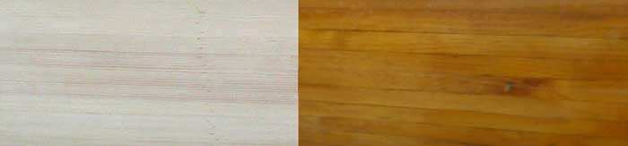 wood coloration over time