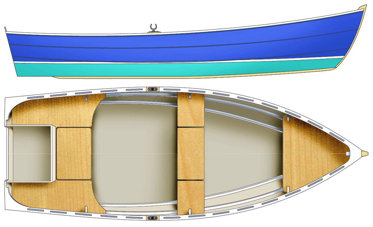 Doris – a simple plywood dory | Björn Thomasson Design