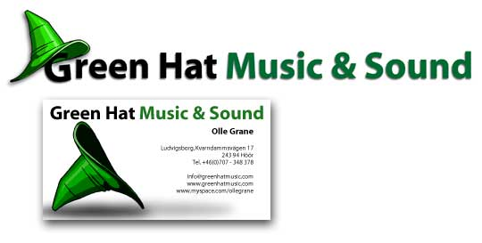 Logga för Green Hat Music and Sound
