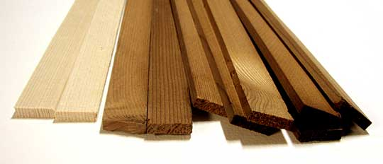 Heat treated fir strips