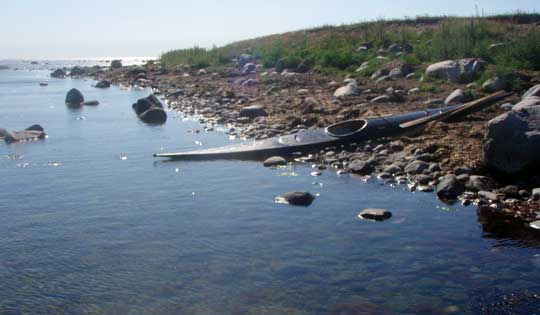The beach north of Löddenäs