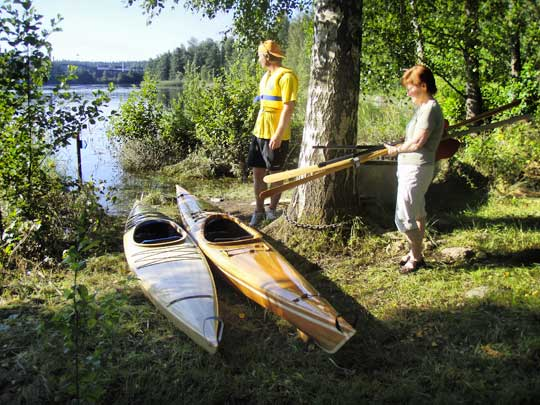 The kayaks at Letälven