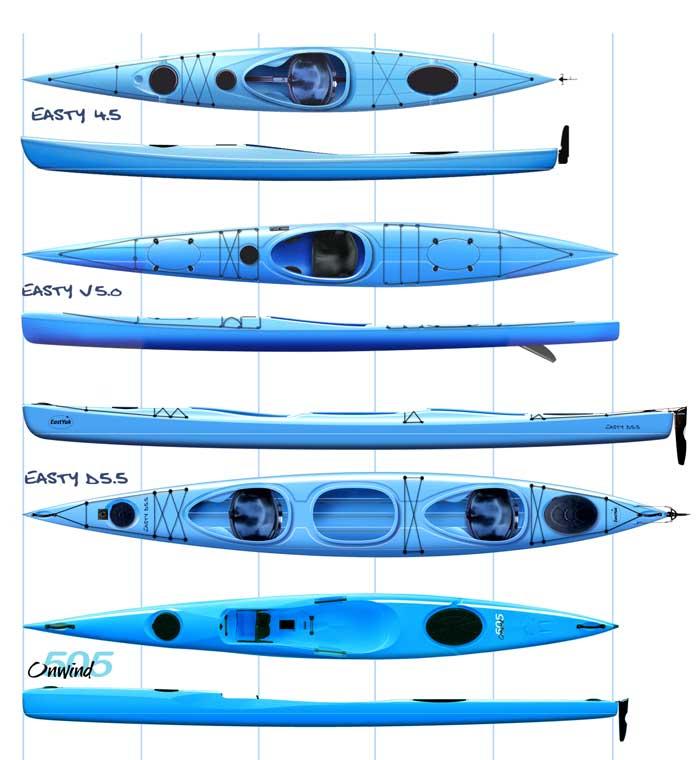 Några av mina kajaker för Liker Kayaks i Kina