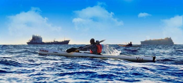 Tuff paddling Korea-Japan i Liker V5.0